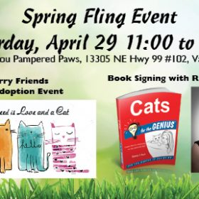 Cat Adoption and Book Signing April 29th