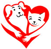 Animal Aid Dog and Cat in a Heart Logo