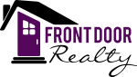 Front Door Realty logo with a purple and black house graphic
