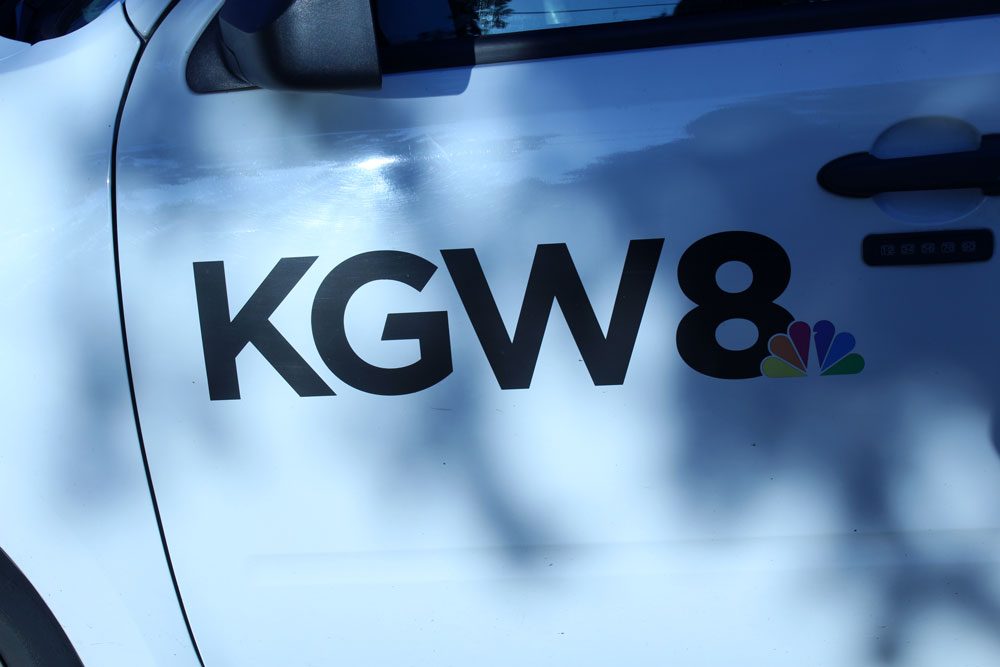 KGW8 News Channel Logo on the side of a vehicle