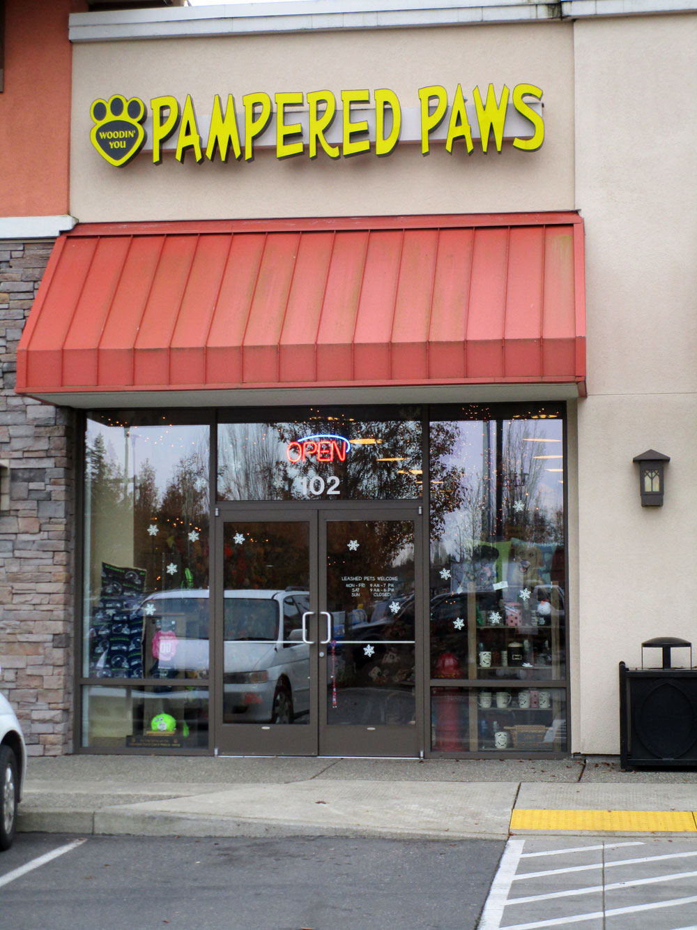 Storefront to Pampered Paws