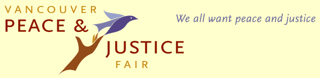 Vancouver Peace and Justice Fair Banner